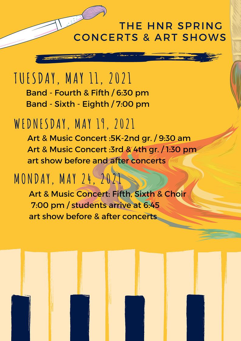 spring concerts and art show