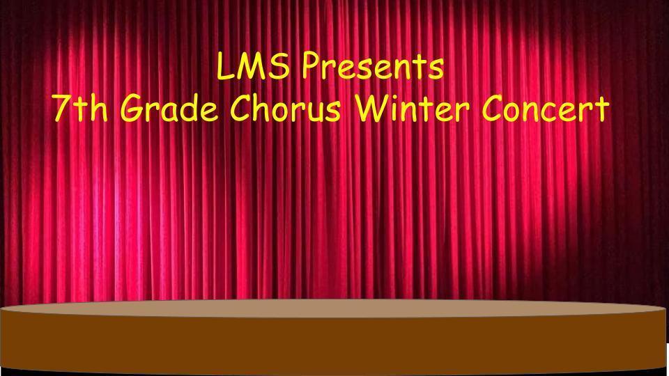 7th grade virtual winter concert