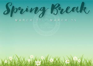 spring break closure banner