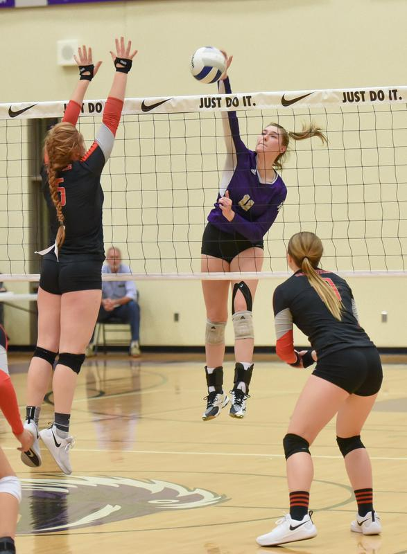 PCS Volleyball team playing at State