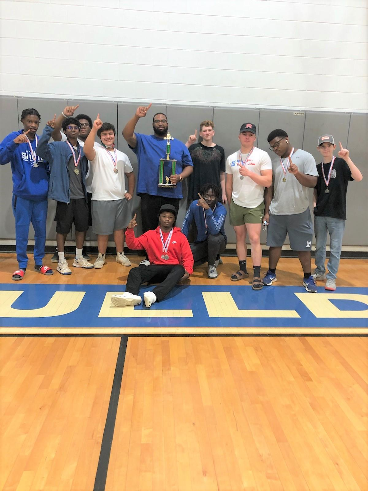 SEHS Boys Powerlifting 2021 South State Champs