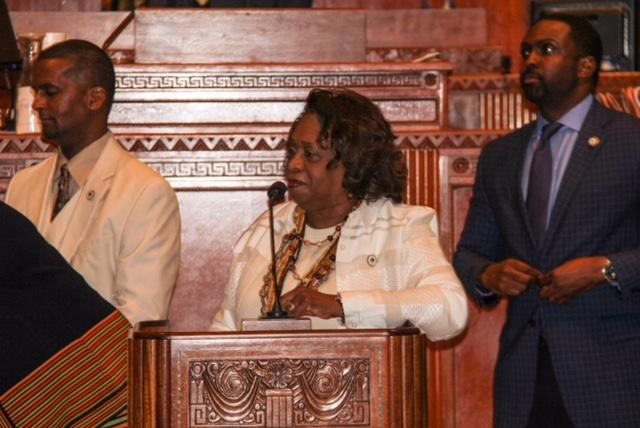 Photo of the BHS Band at the State Capital