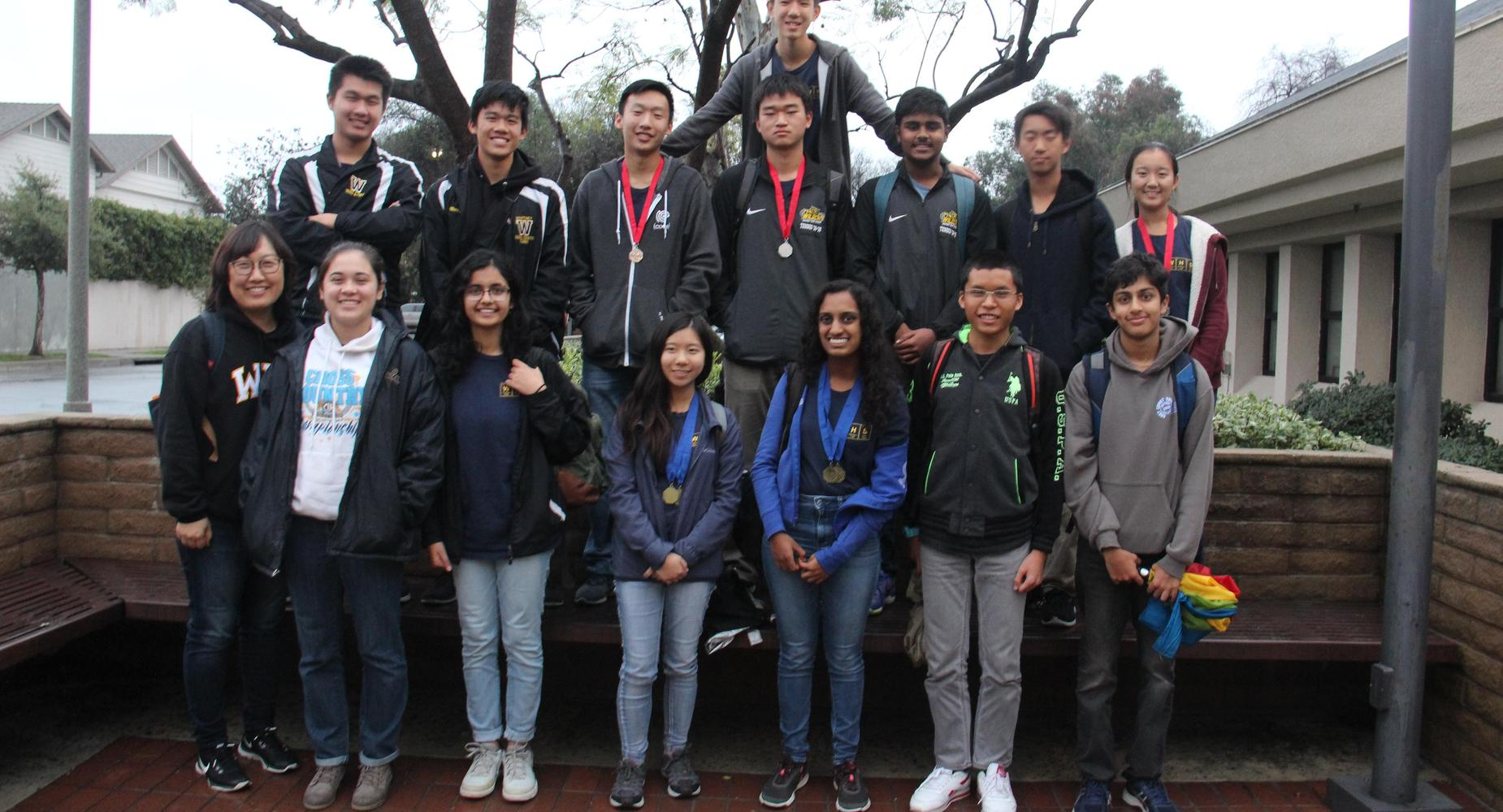 Mrs. Song with Science Olympiad team