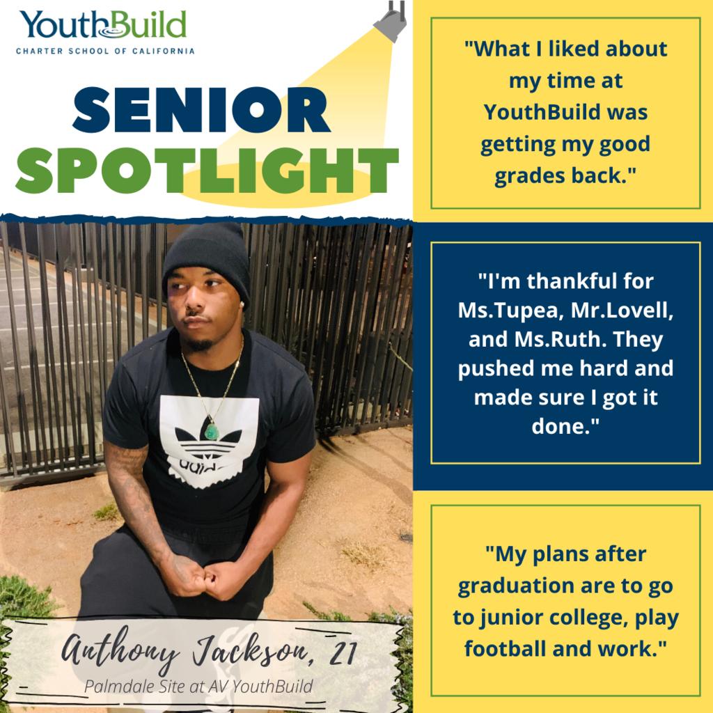 Senior Spotlight for graduate Anthony Jackson