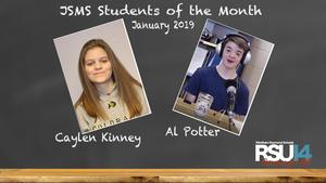 JSMS Students of the Month January 2019