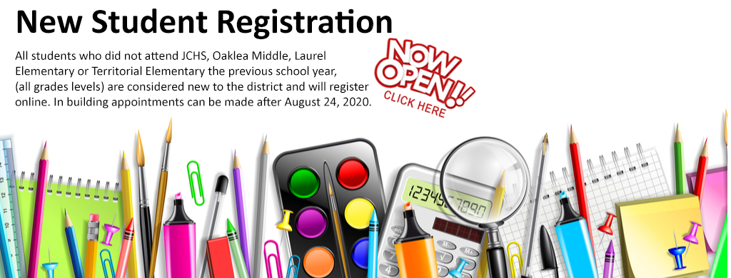 New to the District Online Student Registration