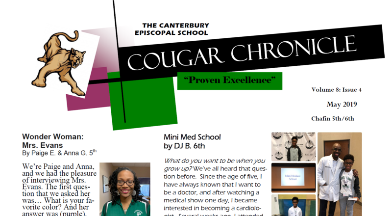 Fourth Edition of the Cougar Chronicle for 2018-2019 Thumbnail Image