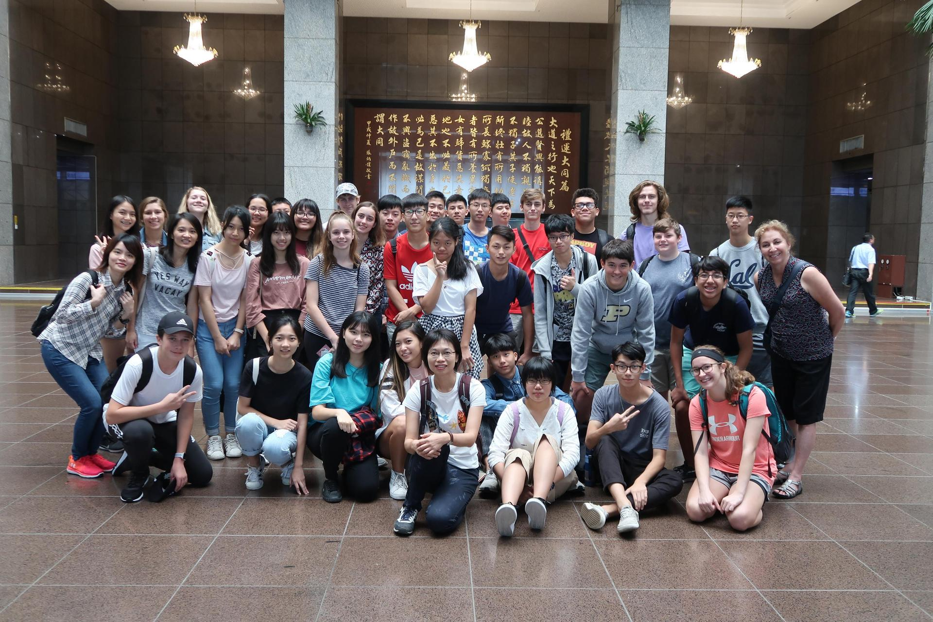 ZCHS students and their exchange partners in Taipei.