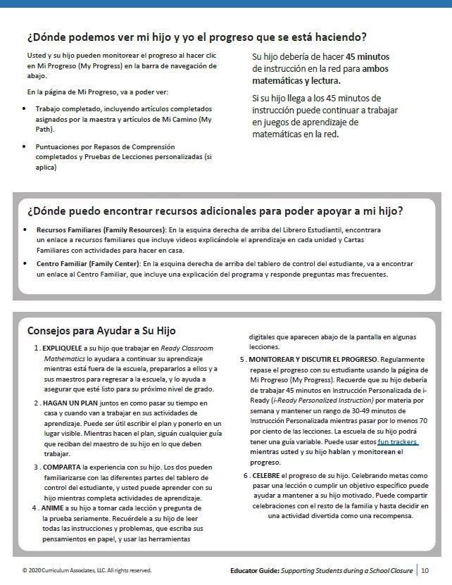 iReady Guide 2 Spanish