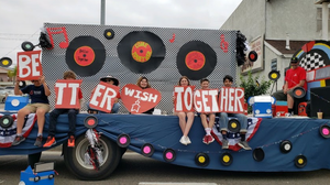 July 4th parade WISH float