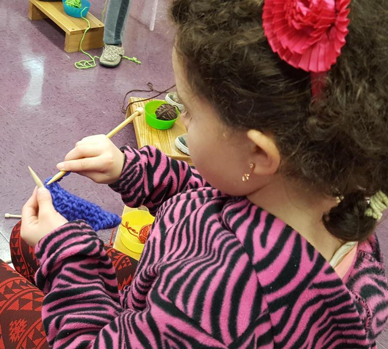 RSSAA Student Knitting
