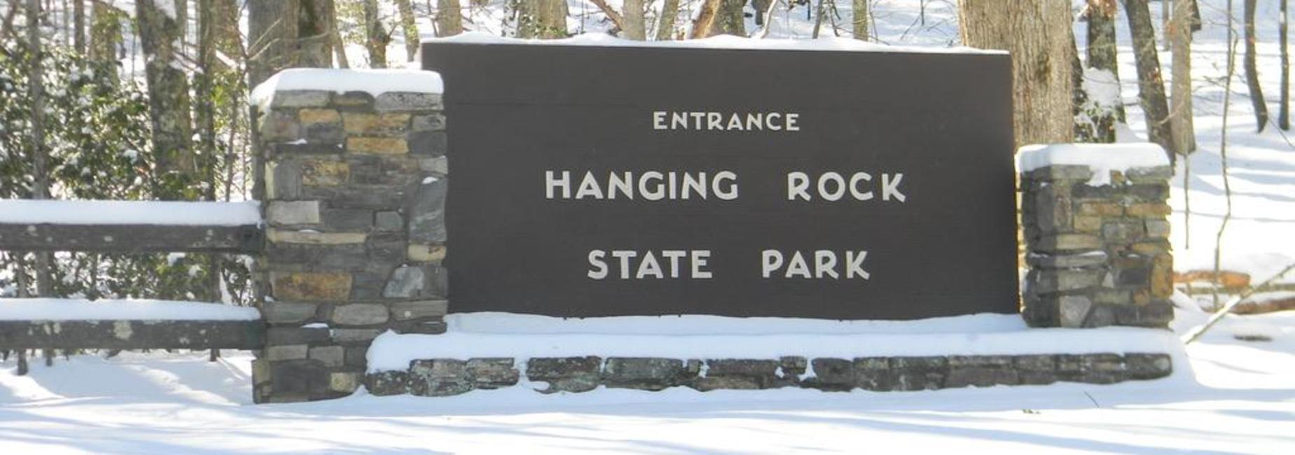 Hanging Rock State Park Sign