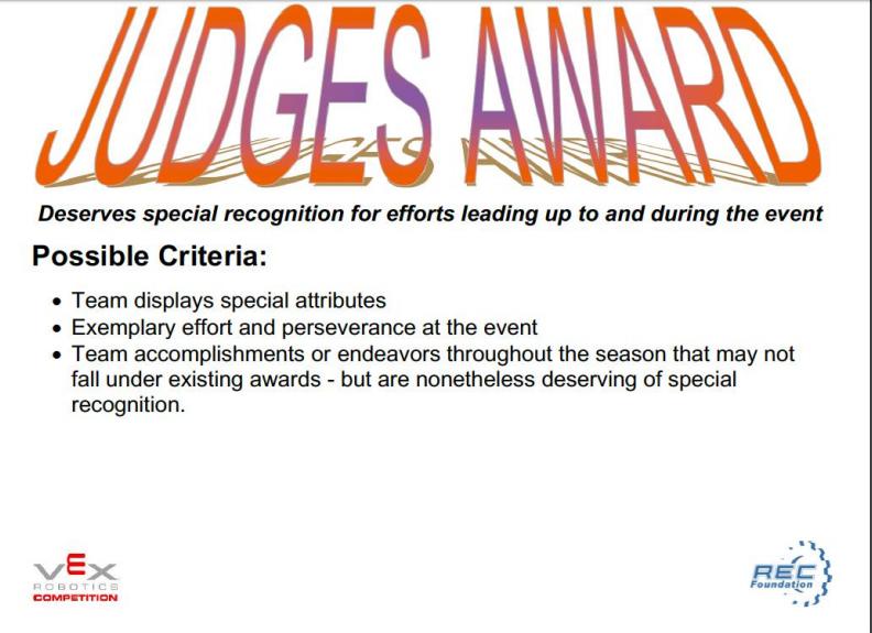 Judges Award Standards