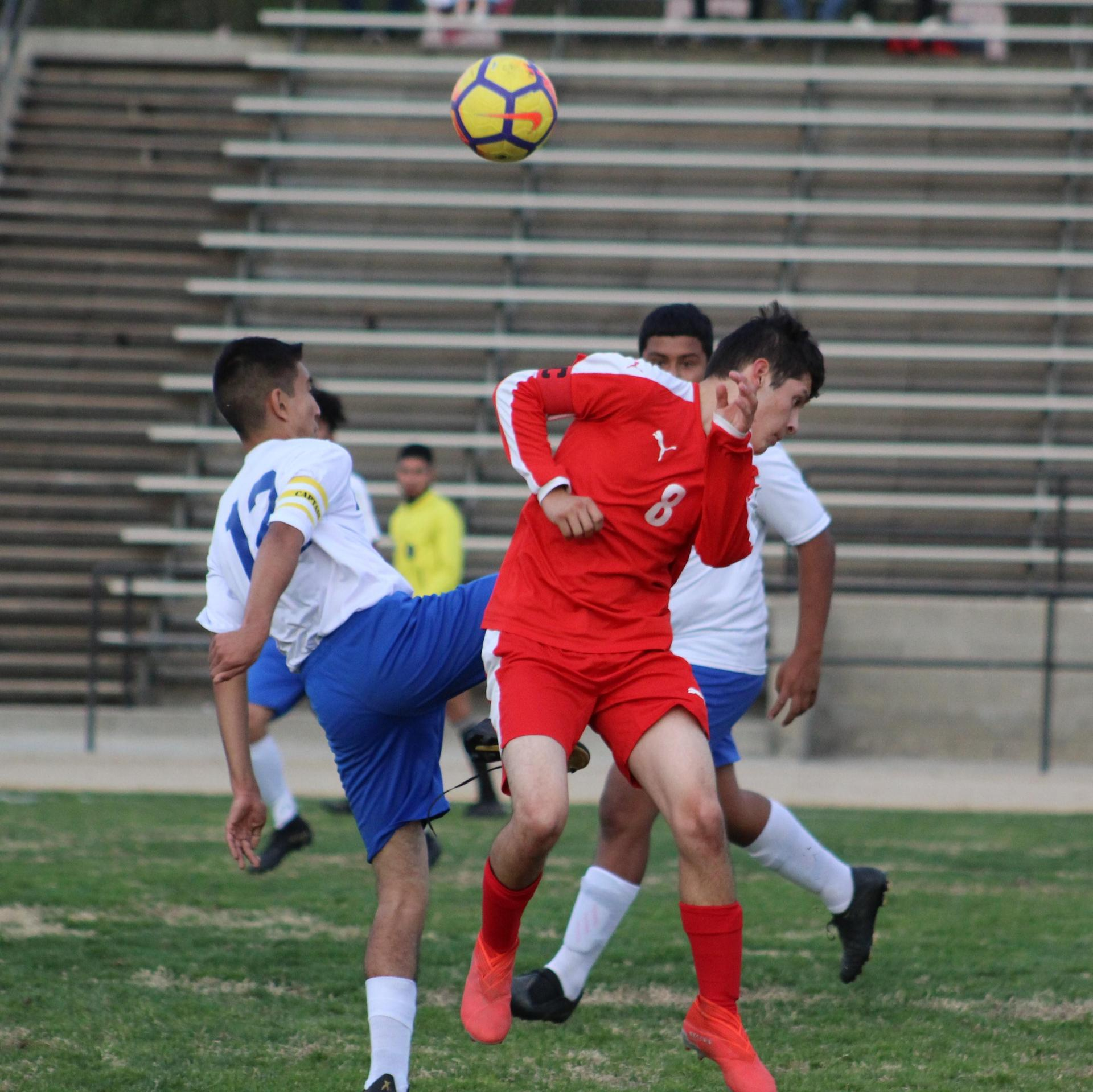 Francisco Chavez Trying to Headbutt the Ball