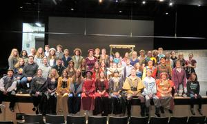 The cast and crew of