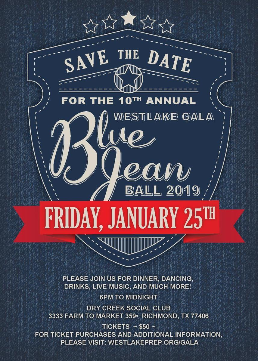 Save the Date! Westlake's Blue Jean Ball Gala coming Friday, January 25th