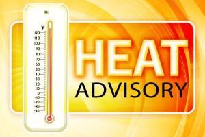 Heat Advisory in effect Wed/8-29-18