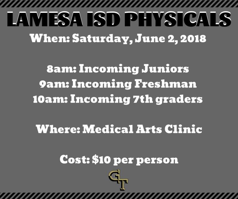 Lamesa ISD Athletic Physicals Thumbnail Image