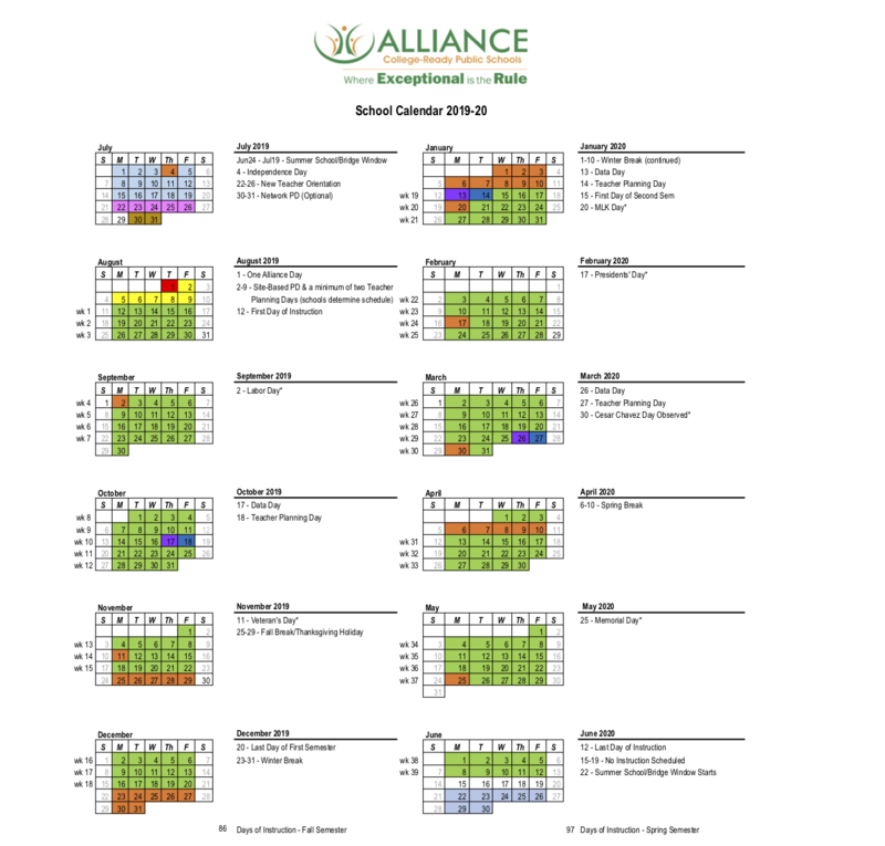 2019-2020 School Calendar Thumbnail Image