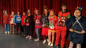 Top 10 students in ugly xmas sweater contest