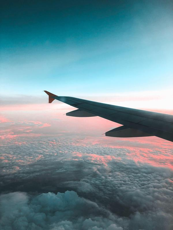 Picture of a plane wing