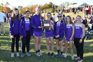 photo of the OLSH girls cross country team runners up at the WPIAL championships