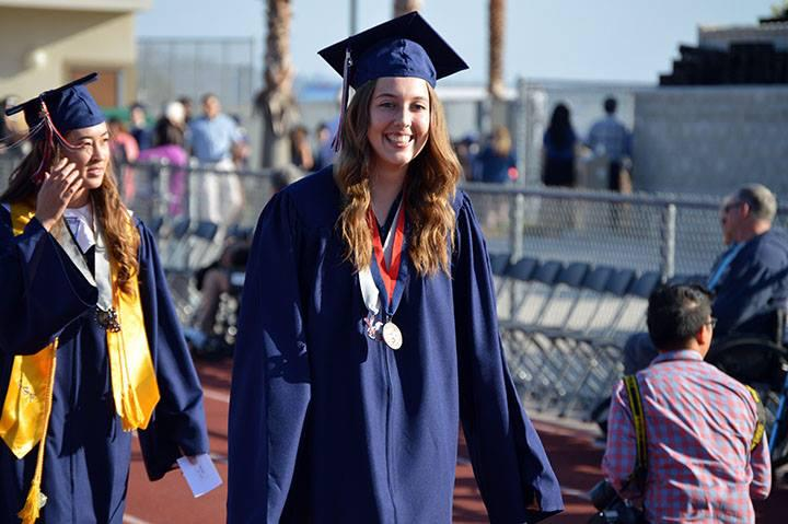 A senior student during graduation