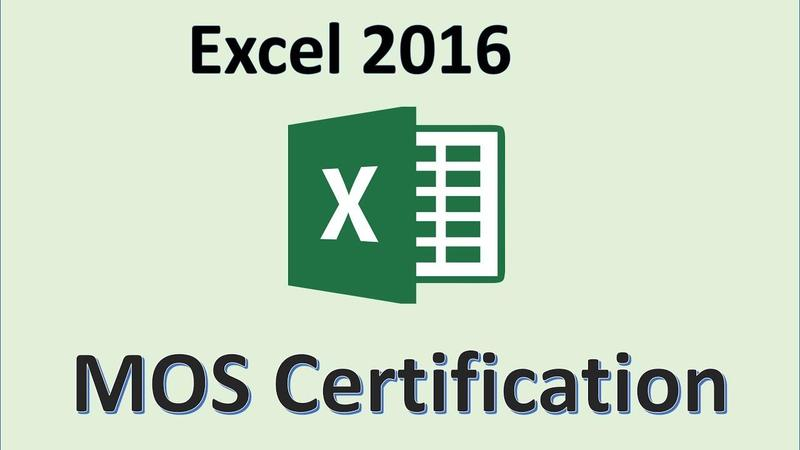 excel logo mos certification