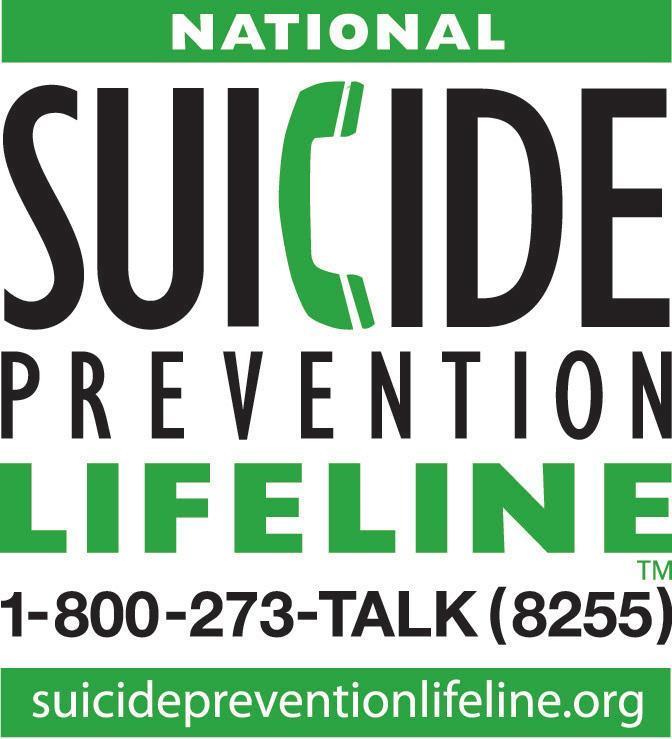 National Suicide Prevention Lifeline 1-800-8255