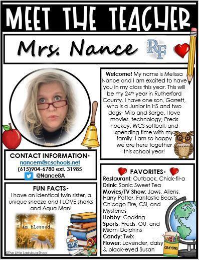 Meet Mrs. Nance
