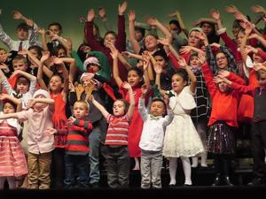 Singing and dancing to Christmas songs