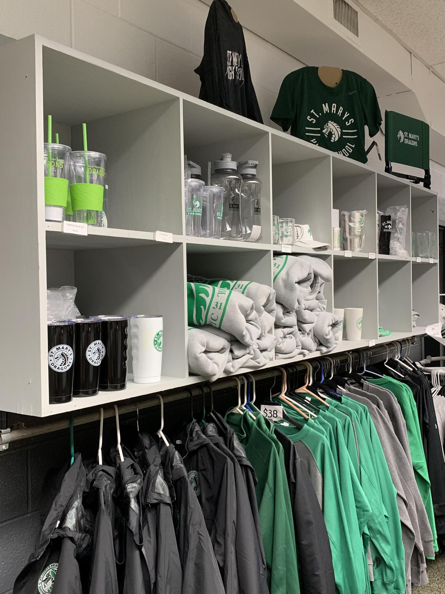Image of the merchandise available in the Southside Legacy Shop