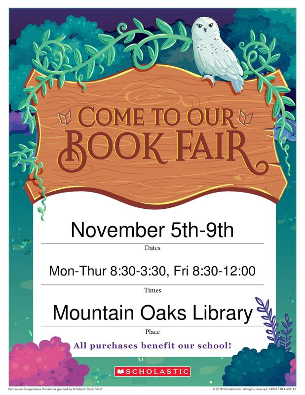 Picture of Book Fair Flyer