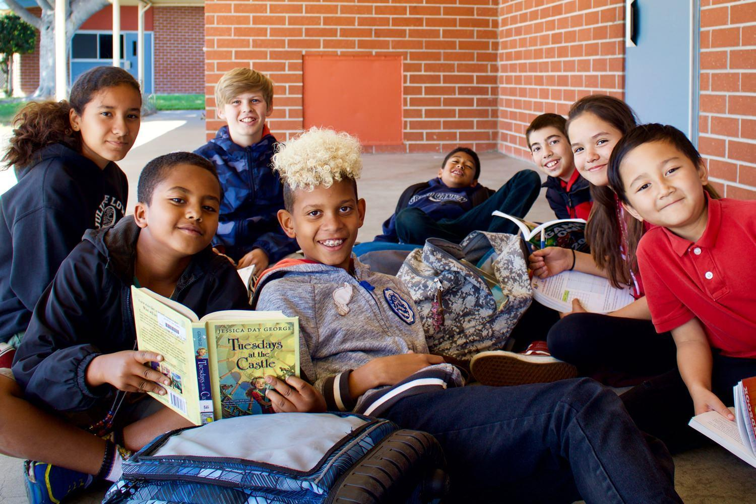 magnolia students reading books
