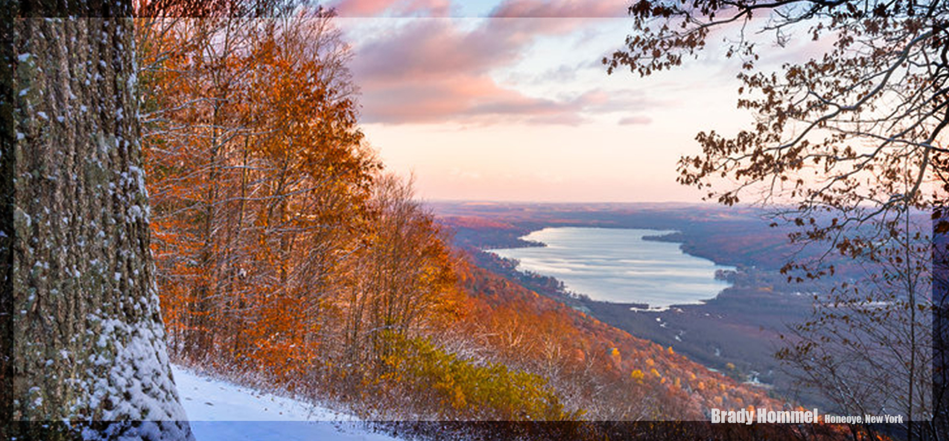 View of Honeoye lake from Harriet Hollister