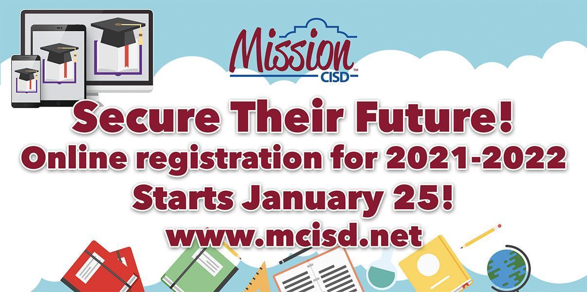 Online Registration starts January 25, 2021