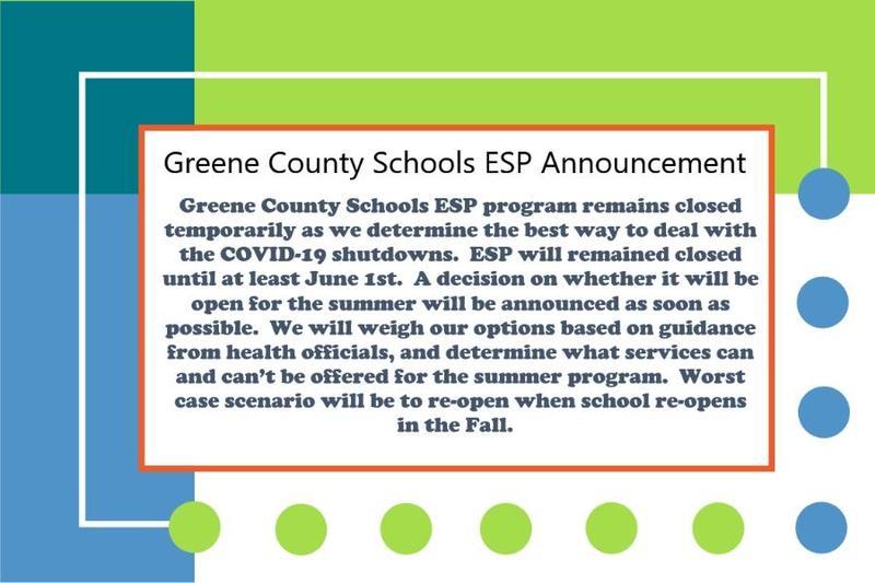 ESP Announcement