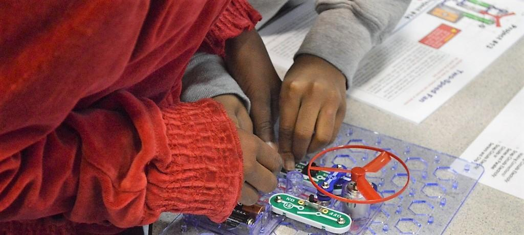 circuitry project in STEM lab
