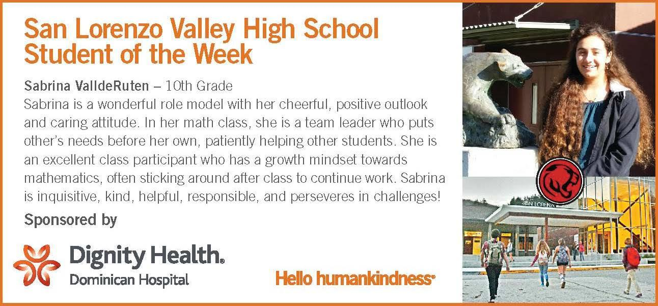 Student of the week SV