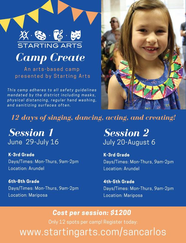 Starting Arts Summer Camp Logo