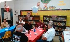 Veterans socializing