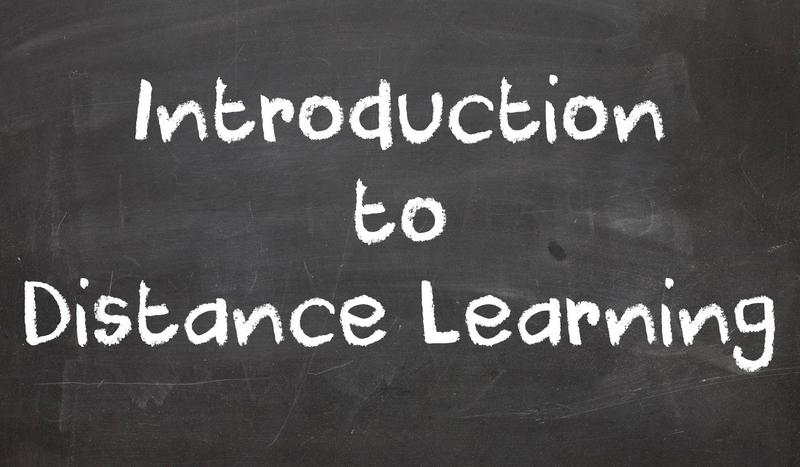 Intro Distance Learning