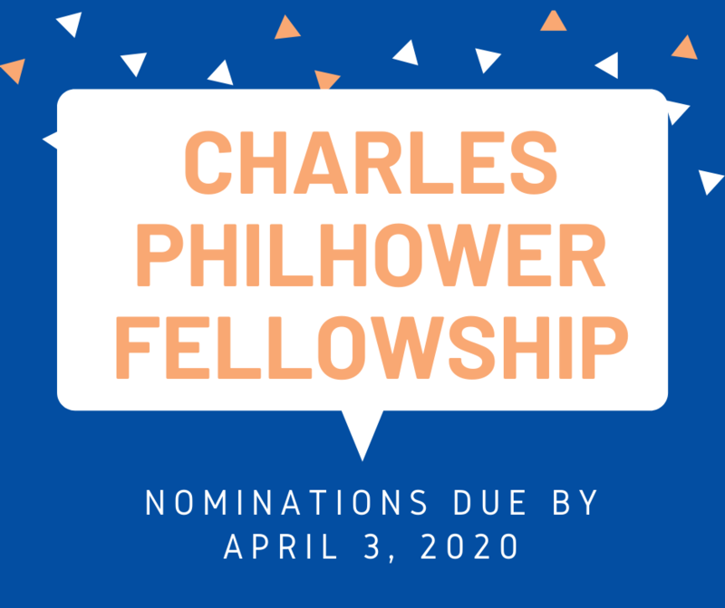 Photo of Charles Philhower Fellowship graphic.