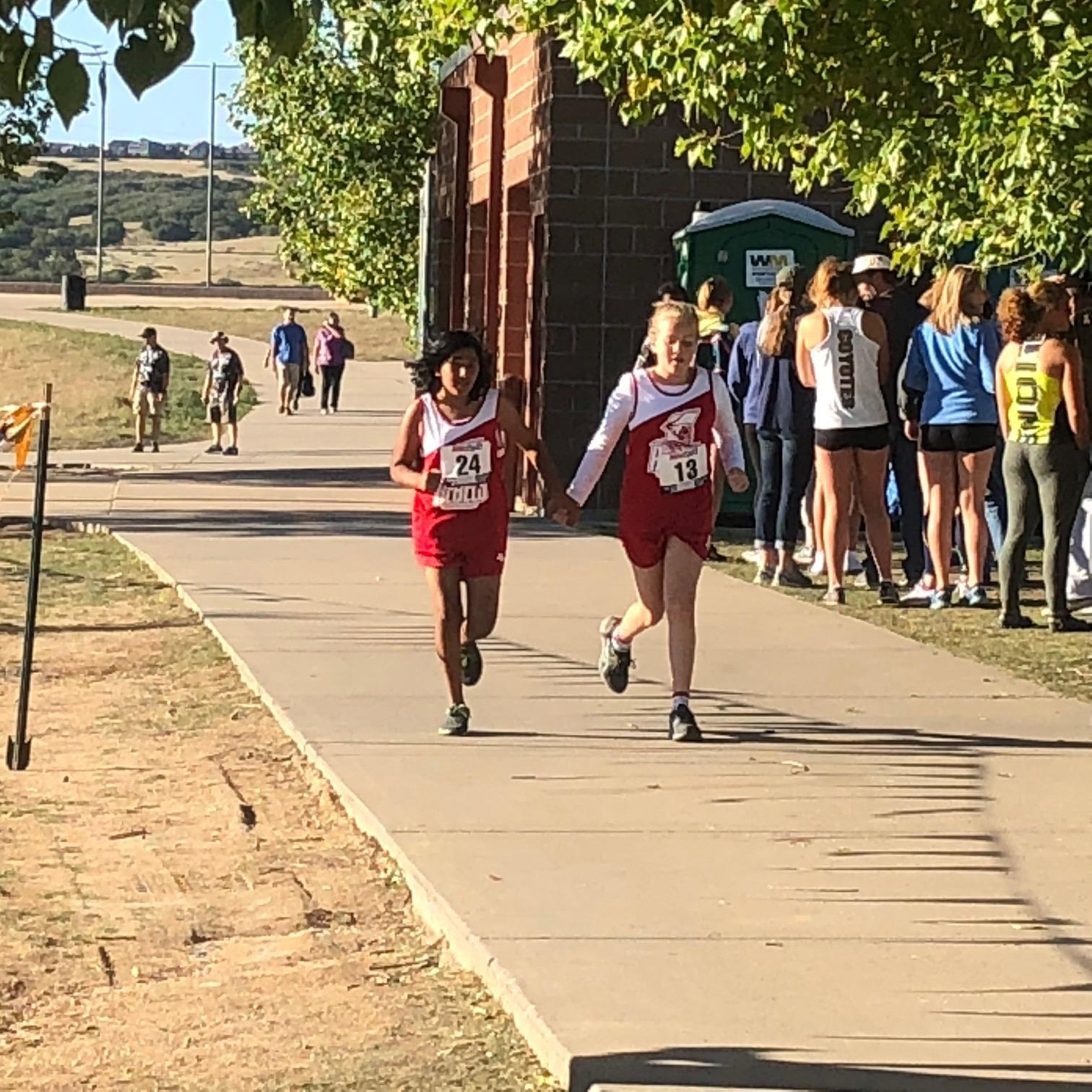 Cross Country runners during a meet.