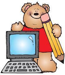 Bear Computer Clipart