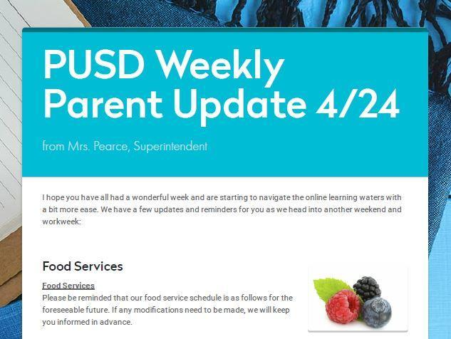 PUSD Newsletter Update 4/24