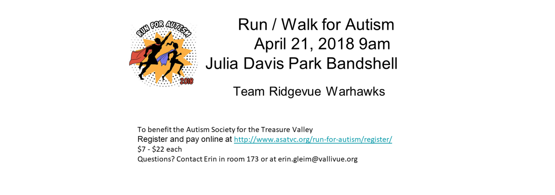 Run/Walk for Autism