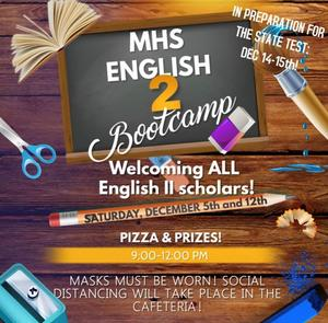 McComb High School is set to host English II Bootcamp!
