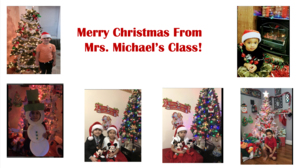 Class' Christmas pictures collage