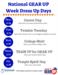 National GEAR UP Week dress up days